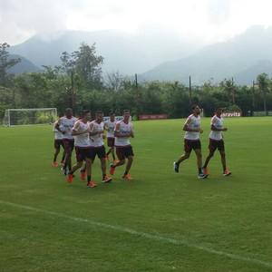 Treino Flamengo Ninho do Urubu (Foto: Igor Rodrigues/GloboEsporte.com)