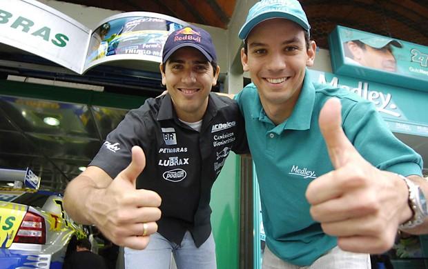 Stock Car - Cacá Bueno e Giuliano Losacco em 2005 (Foto: Miguel Costa Jr./ Divulgação)