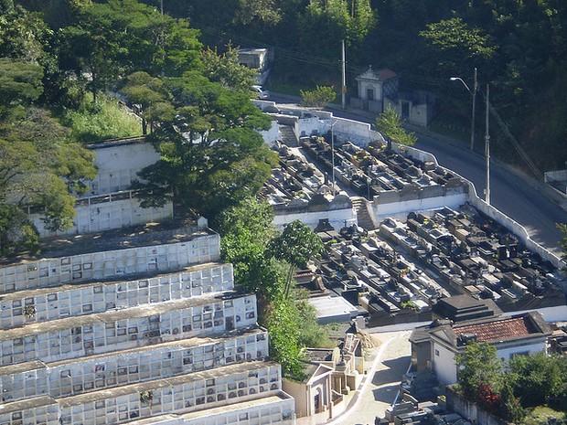 Cemitério Municipal de Petrópolis, localizado no Centro da cidade. (Foto: Divulgação)