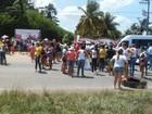 Manifestantes interditam trecho da BR-316, na Grande Belém