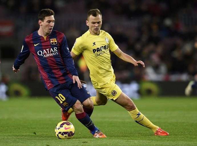 Messi, Barcelona x Villarreal (Foto: AFP)
