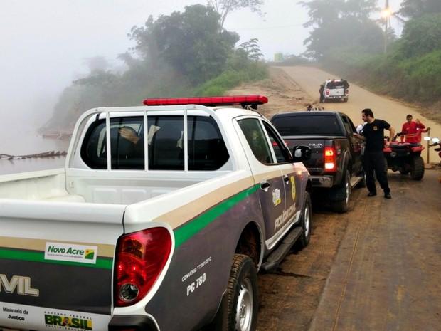 Operação foi deflagrada na manhã desta terça-feira (31) em Xapuri (Foto: Divulgação/Sesp-AC)