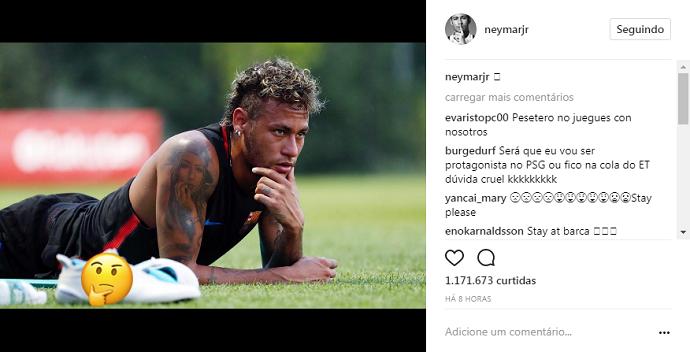 BLOG: Pensativo? Neymar se manifesta com emoji em meio à chance de ir ao PSG