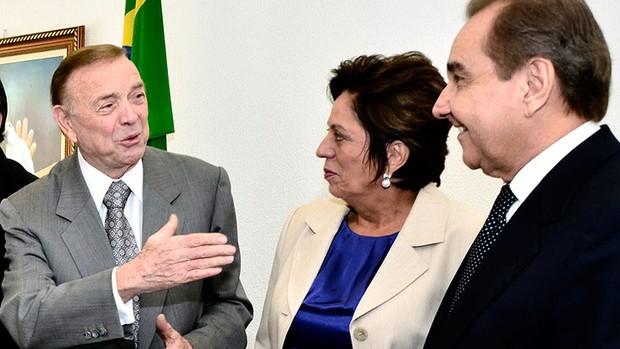 José Maria Marin com a governadora do Rio Grando de Norte, Rosalba Ciarlini  (Foto: Mariana de Pietro / Divulgação)