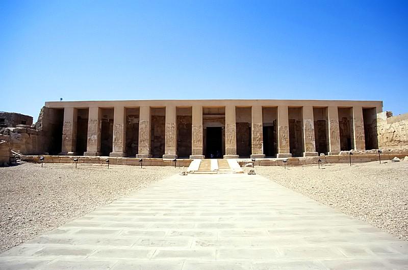 Templo de Seti I, em Abidos (Foto: Wikimedia/Roland Unger)