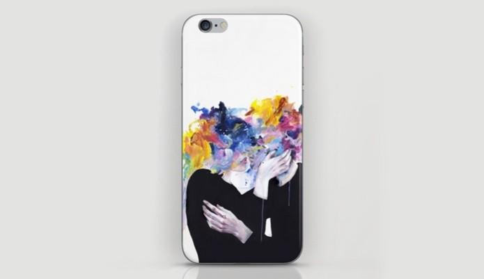 Capa protetora do iPhone 6 com ilustração artística (Foto: Divulgação/Society6) (Foto: Capa protetora do iPhone 6 com ilustração artística (Foto: Divulgação/Society6))