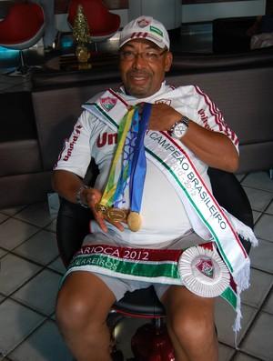 Gegê, massagista do Fluminense (Foto: Lucas Barros / Globoesporte.com/pb)