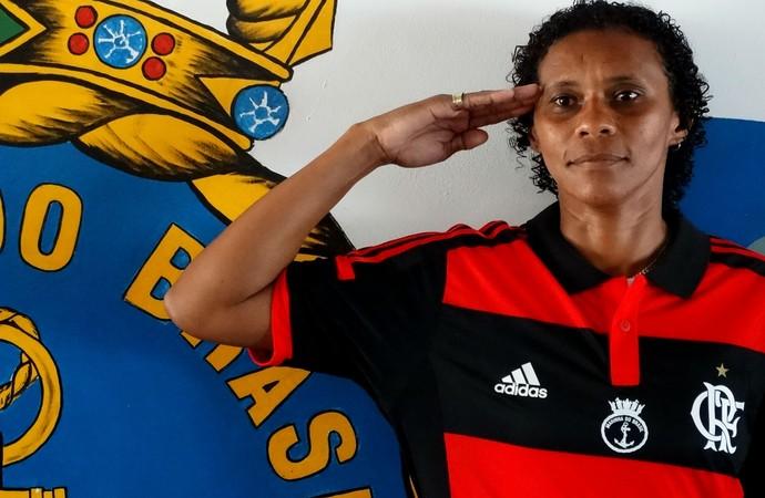 Tânia Maranhão futebol feminino Flamengo (Foto: Jessica Mello / GloboEsporte.com)