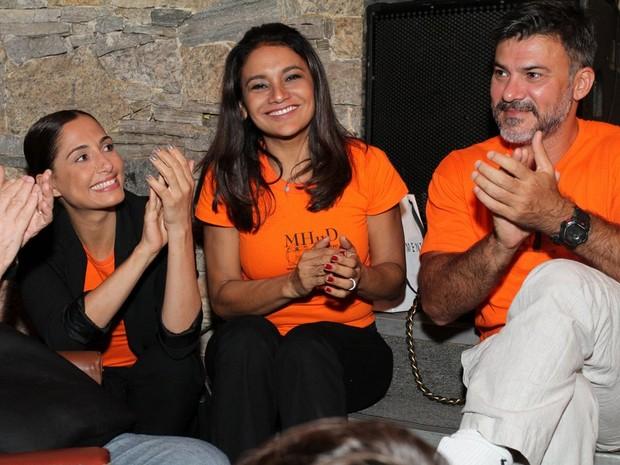 Camila Pitanga, Dira Paes e Leonardo Brício em evento no Rio (Foto: Anderson Borde/ Ag. News)