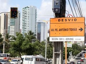 Desvios começam nesta sexta-feira (Foto: Prefeitura de Fortaleza/Divulgação)