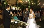 Bailarina do 'Domingão' se casa em SP; saiba como foi a festa!