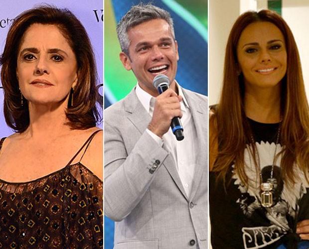 Marieta Severo, Otaviano Costa e Viviane Araújo estarão no palco deste Domingão  (Foto: Zé Paulo Cardeal/ Raphael Dias/ TV Globo/ Gshow)