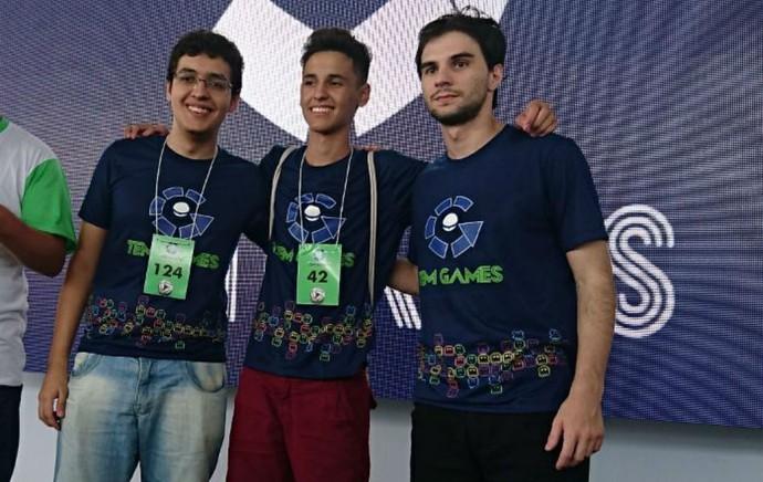 Finalistas do FIFA no TEM GAMES 2017 em Itapetininga (Foto: Francine Galdino/G1)
