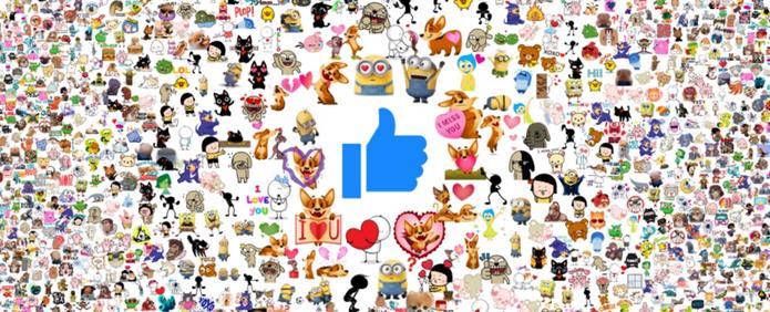 As figurinhas mais usadas na rede social também entraram na lista (Foto: Divulgação/Facebook)