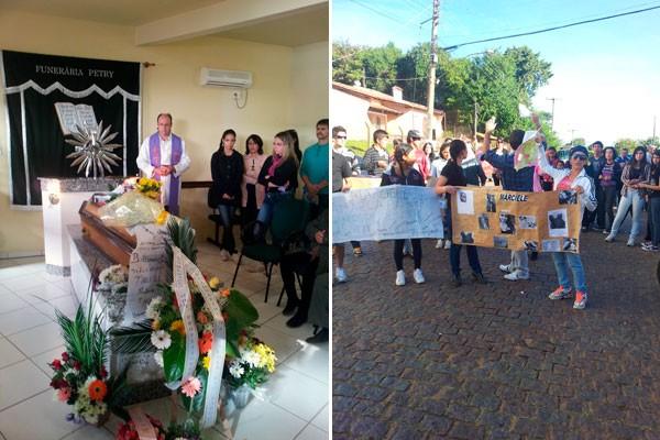 Enterro Rio Pardo (Foto: Renata Kerber/RBS TV)