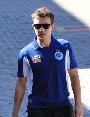 Dagoberto, atacante do Cruzeiro (Foto: Tayrane Corrêa)