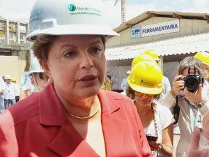 A candidata do PT seguiu para Almeirim após visitar Belo Monte (Foto: Fabiano Villela / TV Liberal)