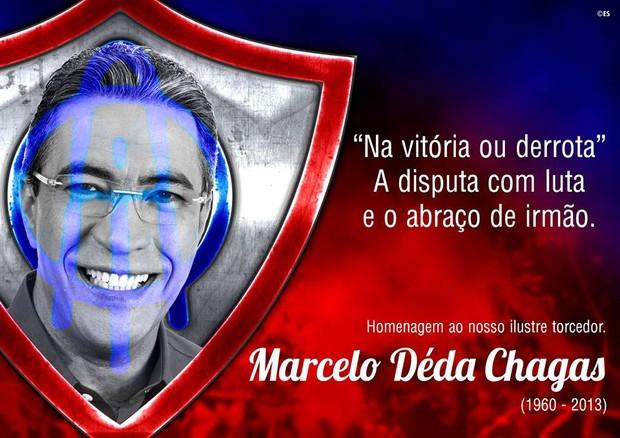 Marcelo Déda no escudo do Itabaiana (Foto: Reprodução / AOI)