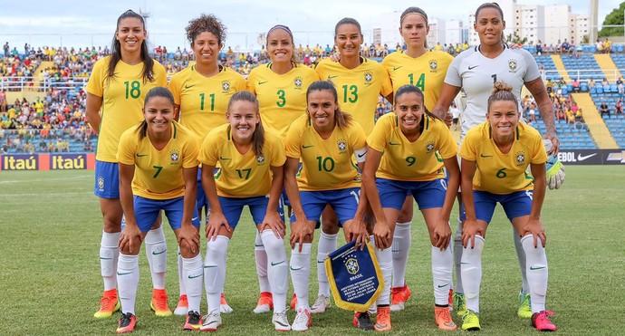 Seleção feminina olimpica x Australia (Foto: CBF)