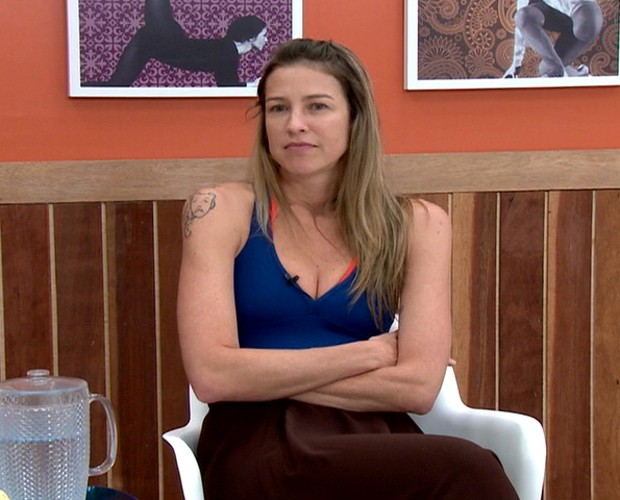 Luana Piovani fala sobre a repescagem do 'Dança' (Foto: Domingão do Faustão / TV Globo)