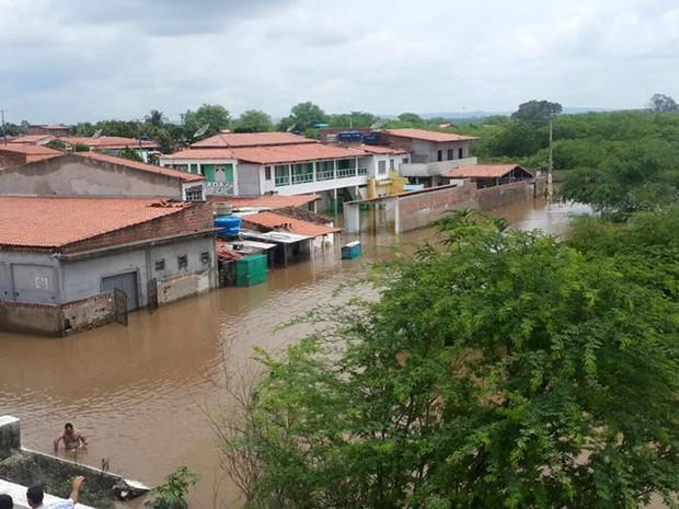 Distrito de Jorrinho, na cidade de Tucano, Bahia. Foto tirada no sábado (23) (Foto: Luan Soua/VC no G1)