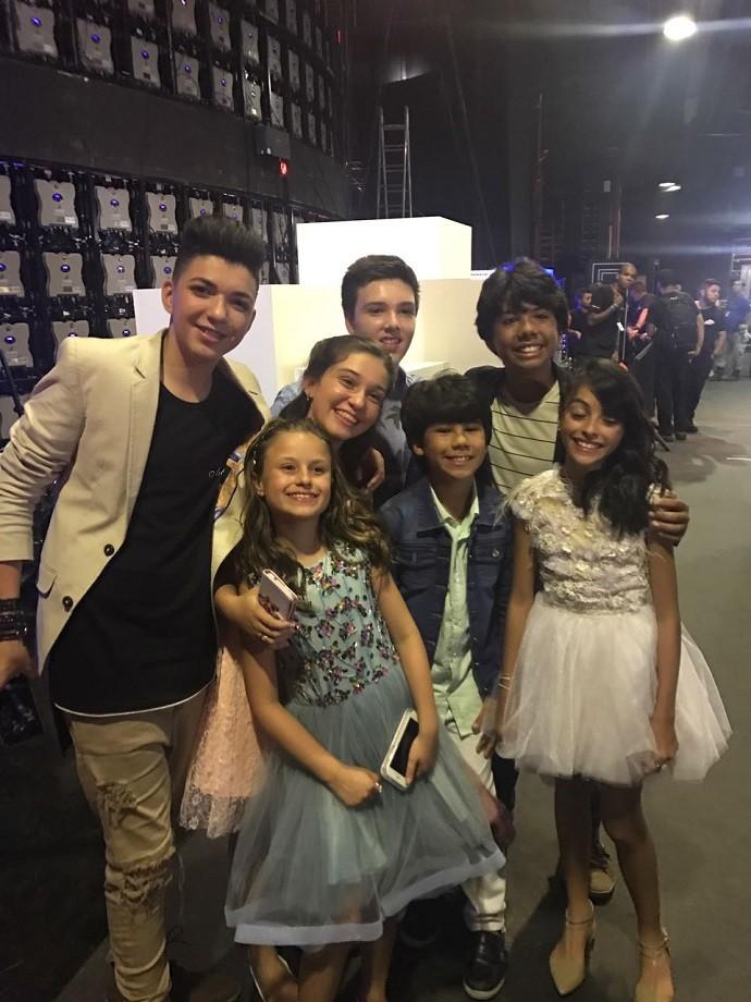 Os ex-Kids reunidos, nos bastidores do programa (Foto: Arquivo pessoal/Rafa Gomes)