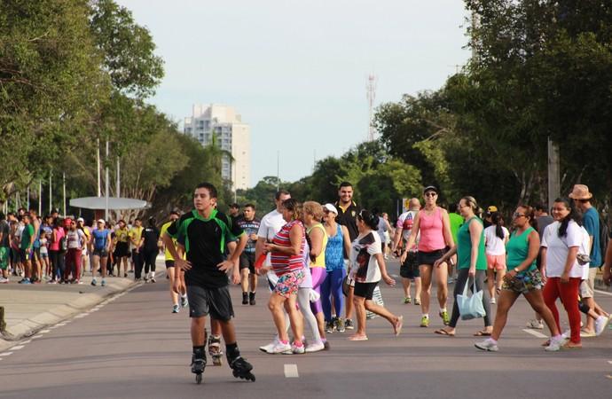 Caminhada do Medida Certa em Manaus (Foto: Isabella Pina)