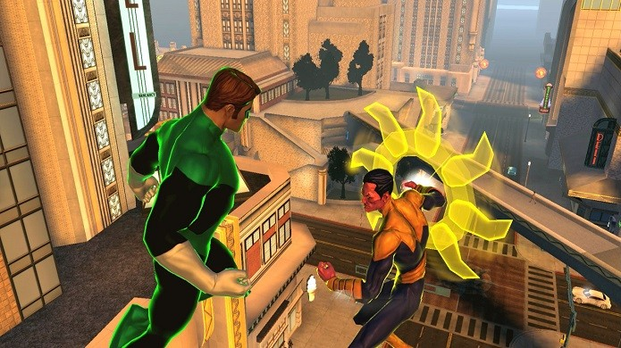 Os dois maiores Lanternas, Hal Jordan e Sinestro (Foto: Divulgação)