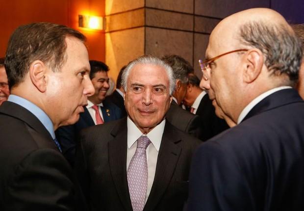 Temer em jantar do Fórum de Investimentos Brasil 2017 (Foto: Marcos Corrêa/PR)