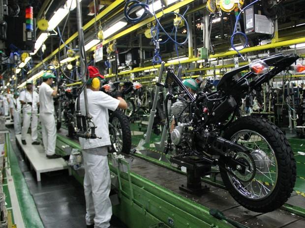 Fábrica da  Moto Honda da Amazônia produziu mais de 11 milhoes de unidades da CG, em 40 anos (Foto: Ive Rylo)
