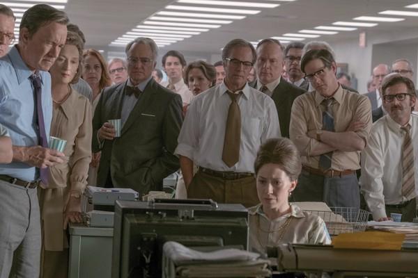 A atriz Meryl Streep e o ator Tom Hanks em cena de The Post, dirigido por Steven Spielberg (Foto: Reprodução)
