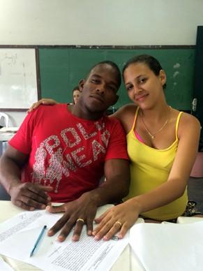Germano e Luana Serra se casaram na Ação Global (Foto: Divulgação)