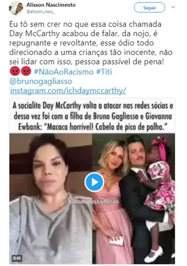 Usuários nas redes sociais ficaram revoltados com os comentários da socialite (Foto: Divulgação / Twitter)