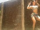 Lia Khey rebola durante malhação: 'A gente treina e se diverte'