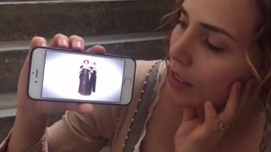 Letícia Colin faz transmissão ao vivo nos bastidores de 'Novo Mundo'