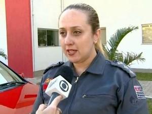 Capitão Marta Barone, do Corpo de Bombeiros de Piracicaba (Foto: Alfredo Morgante/EPTV)