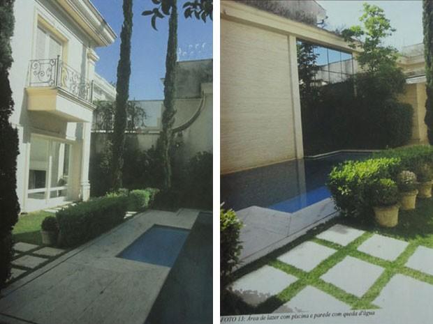 Sacada e piscina da mansão da família Abdelmassih (Foto: Reprodução/ site Lut Leilões)
