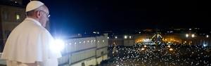 Veja fotos do anúncio da escolha  do novo Papa no Vaticano (L'Osservatore Romano/AFP)