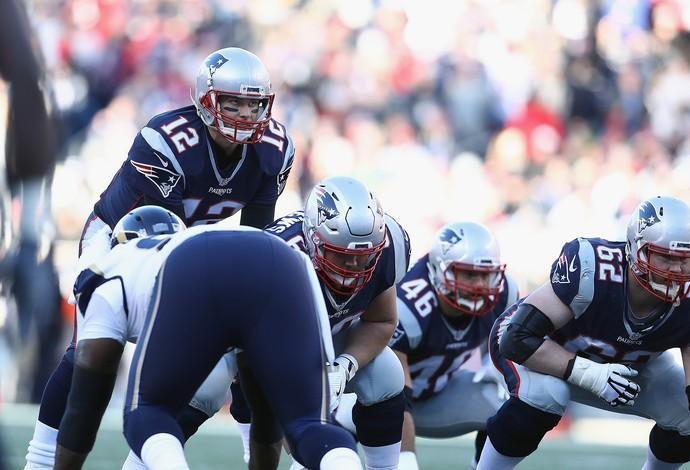 O New England Patriots, de Tom Brady, venceu o Los Angeles Rams (Foto: Getty Images)
