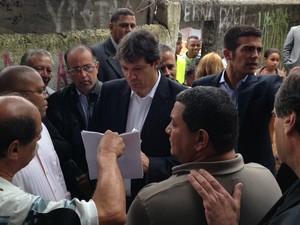 Haddad em evento na Zona Leste (Foto: Letícia Macedo/ G1)