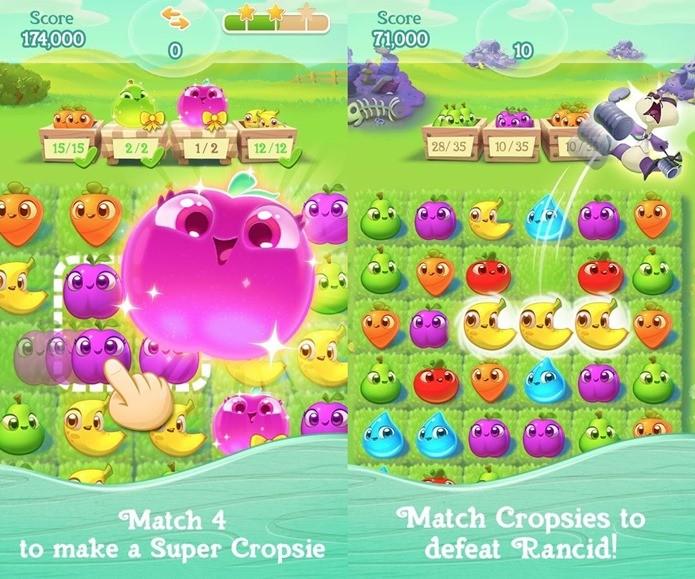 Farm Heroes Super Saga é uma explosão de fofura na tela do seu celular (Foto: Divulgação / King)