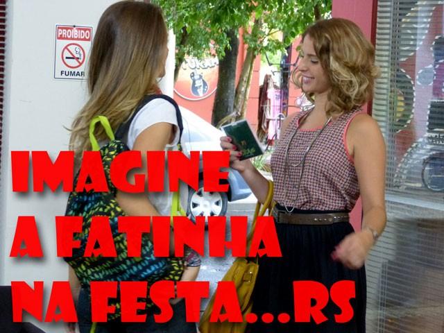 Será que vai dar certo a Fatinha na festa da agência? (Foto: Malhação / TV Globo)