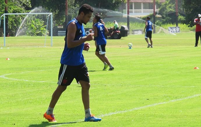 Flamengo treino Hernane (Foto: Thales Soares)