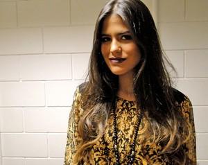 Antonia Morais é a Isadora de Guerra dos Sexos (Foto: Domingão do Faustão / TV Globo)