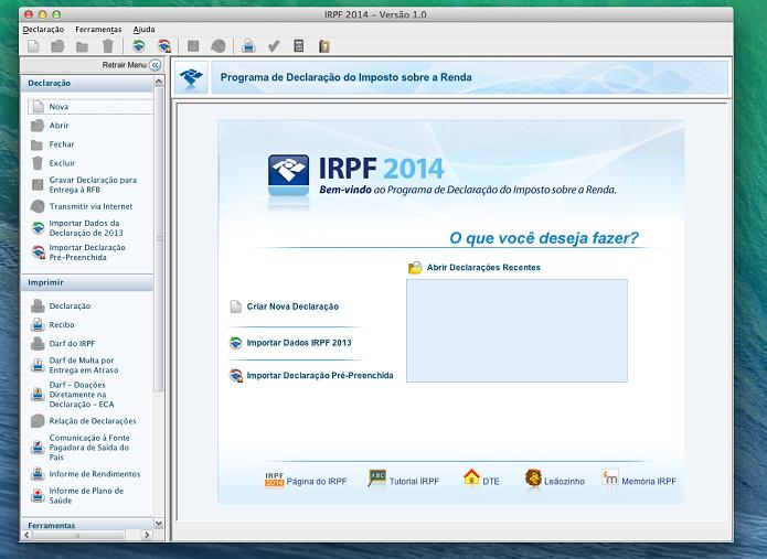 Instale os programa necessários para fazer sua declaração no Mac e no Windows (Foto: Reprodução/Edivaldo Brito)
