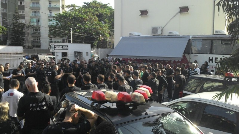 Policiais civis fazem operação para recuperar carros roubados na Grande Vitória (Foto: Divulgação/ PC-ES)