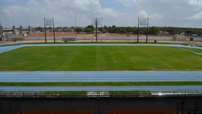 Estádio Olímpico Zerão; Amapá (Foto: Rafael Moreira/GE-AP)