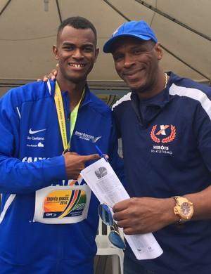 Vitor Hugo e Robson Caetano no Troféu Brasil de atletismo (Foto: Amanda Kestelman)