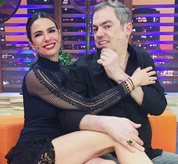 Luciana Gimenez e Marco Antonio de Biaggi (Foto:  Divulgação/RedeTV!)