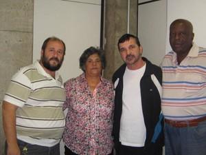 Presidente do conselho José Eduardo da Fonseca (à esquerda) com Pedro Mello (ao centro)    (Foto: José Eduardo da Fonseca/arquivo pessoal)
